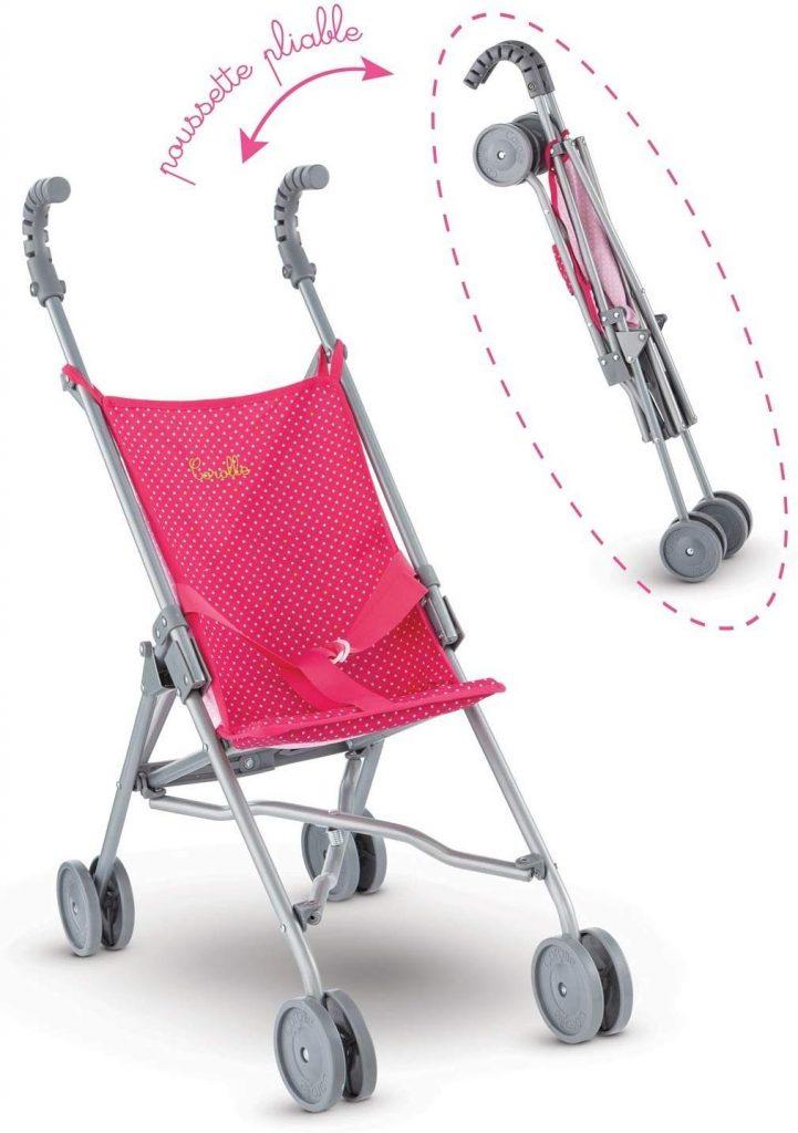 Dieser Corolle Puppenbuggy kann ein Baby von 36 bis 42 cm halten.