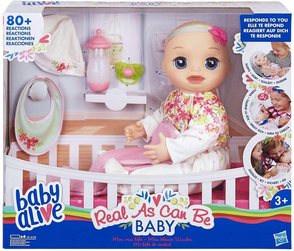 Die Baby Alive Puppe kann ab einem Alter von 3 Jahren verwendet werden.
