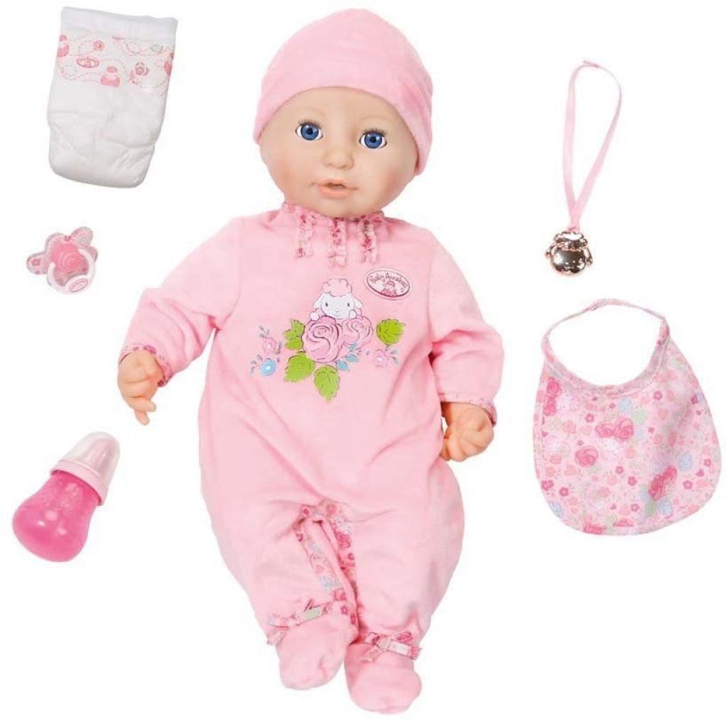 Die Baby Annabell Puppe wird mit verschiedenem Zubehör geliefert.