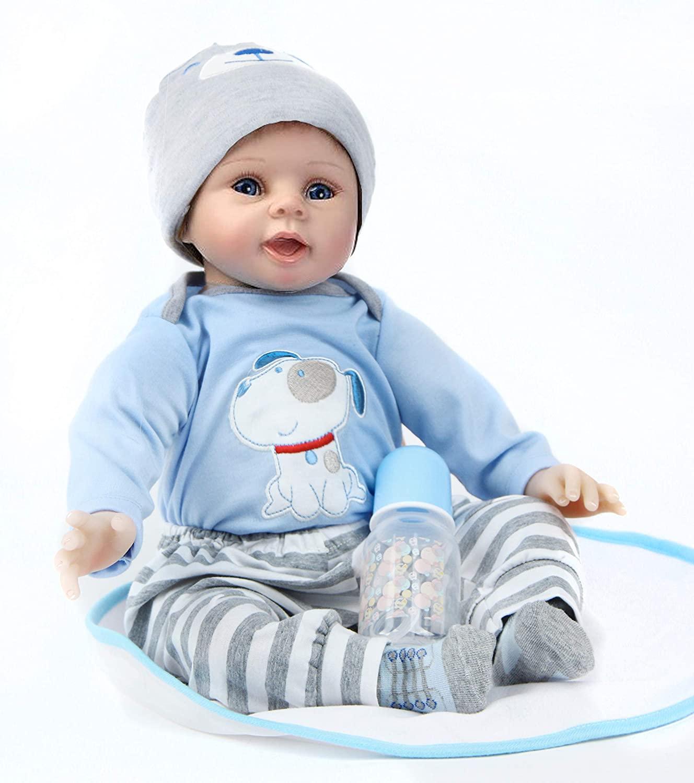 Dieses reborn Baby misst 55 Zentimeter.