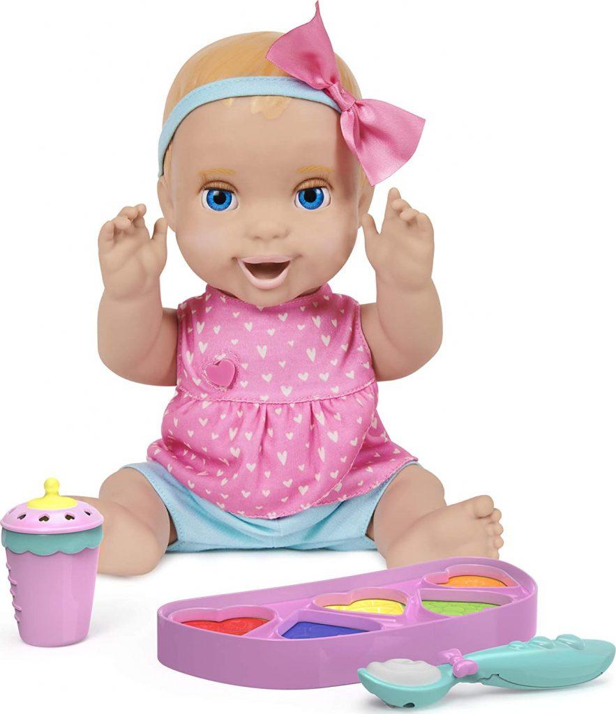Die interaktive Puppe Luvabella Magic Mia ist eine Puppe zum Füttern.
