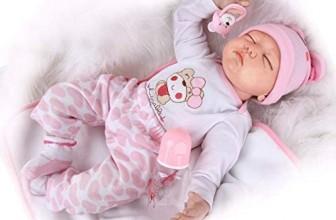 Reborn Baby Puppe mit geschlossenen Augen